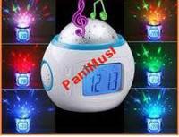 Проектор звёздного неба Music Star Master Музыкальные Часы Будильник Термометр