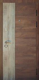 Квартирные входные двери Редфорт (Redfort) Соната Спил дерева коньячный/пепельный