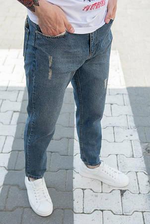 Джинси чоловічі МОМ блакитні вільні стильні Туреччина, фото 2