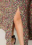 Жіноче плаття батал, штапель, р-р 48; 50; 52; 54 (чорний+рожевий), фото 2