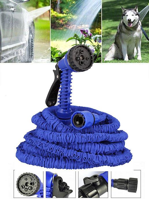 Шланг для полива растягивающийся MAGIC HOSE 15м/50ft Синий