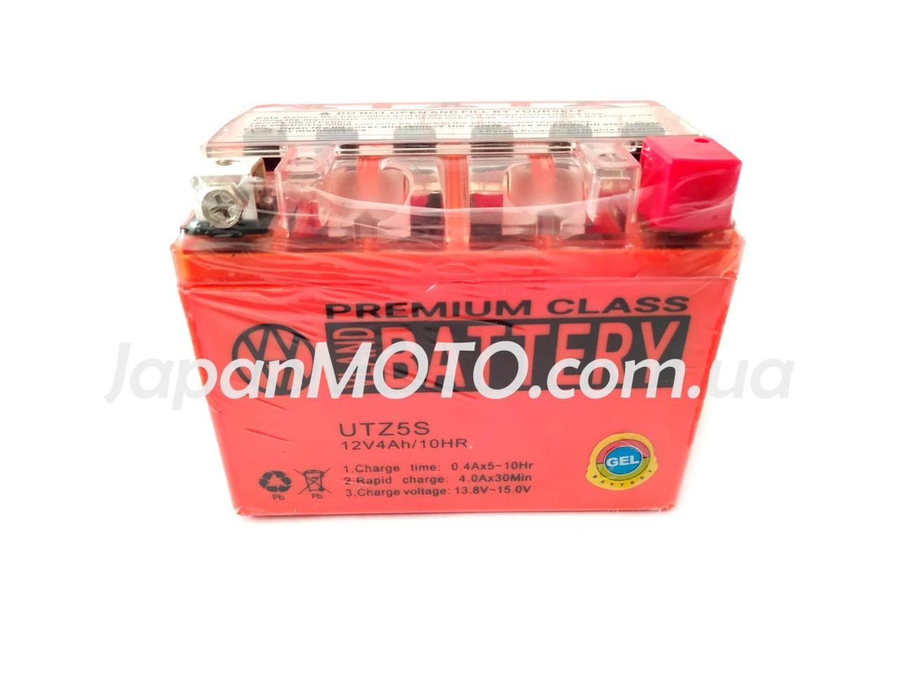 Аккумулятор 4A 12V Honda/Yamaha (YTX4L-BS) VLAND гелевый 113x70x87