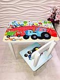 """Комплект стіл, 1 стілець дитячий """"Синій трактор"""", фото 4"""
