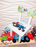 """Комплект стіл, 1 стілець дитячий """"Синій трактор"""", фото 2"""