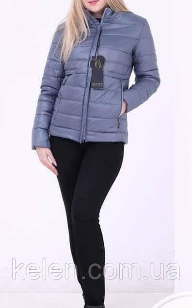 Молодежная  куртка ,демисезонная ,цвет джинс размер 42 (42/44)