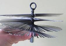 Щетка для чистки дымохода LUX ф500 мм ПЛОСКАЯ сталь под резьбу, фото 2