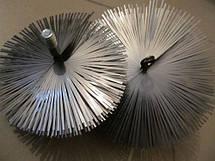 Щетка для чистки дымохода LUX ф500 мм ПЛОСКАЯ сталь под резьбу, фото 3