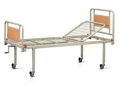 Кровать медицинская функциональная двухсекционная  OSD93V на колесах