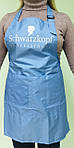 Фартук односторонний парикмахерский c регулятором Schwarzkopf  небесно-голубой