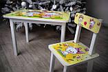 """Комплект стіл, 1 стілець дитячий """"жовті Котики"""", фото 5"""