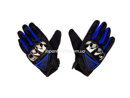 Перчатки AXIO AX-01 сенсорный палец (size: M, синие), фото 2
