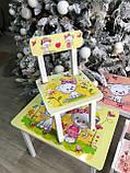 """Комплект стіл, 1 стілець дитячий """"жовті Котики"""", фото 6"""