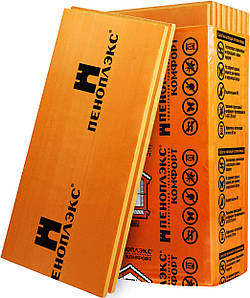 Пеноплэкс (экструдированный пенополистирол) толщина 100 мм, цена за лист 1,185х0,585м.