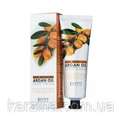 Увлажняющий крем для рук с аргановым маслом Jigott Real Moisture Argan Oil Hand Cream 100 мл