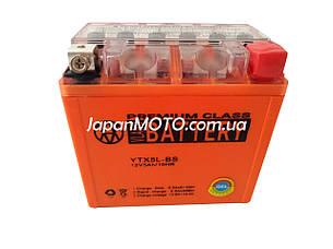 Аккумулятор 5A 12V (YTX5L-BS) VLAND гелевый 113x70x107, фото 2