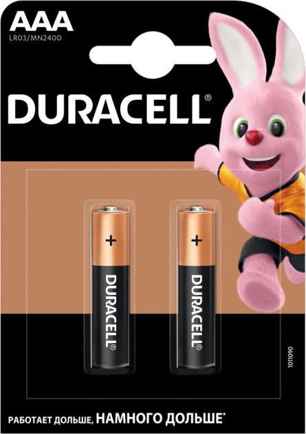 Батарейки Duracell Basic AAA лужні 2 шт