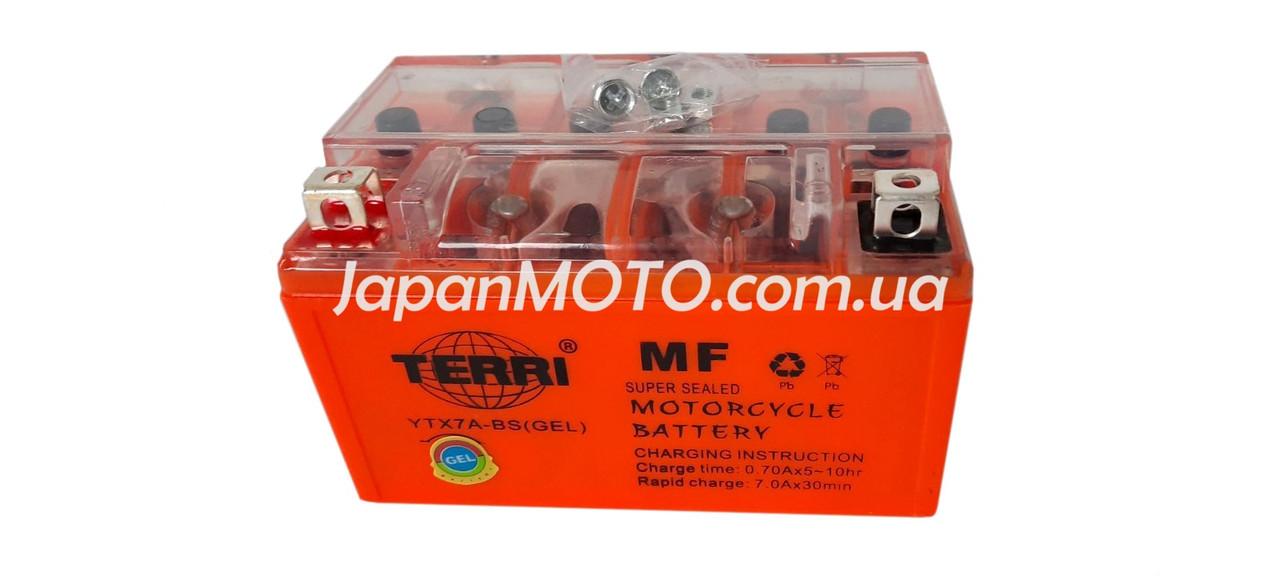 Аккумулятор 7A 12V (YTX7A-BS) VLAND гелевый 150x87x94