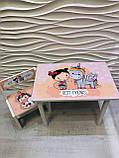 """Комплект стіл, 1 стілець дитячий """"Дівчинка і єдиноріжок"""", фото 5"""