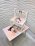 """Комплект стіл, 1 стілець дитячий """"Дівчинка і єдиноріжок"""", фото 4"""
