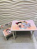 """Комплект стіл, 1 стілець дитячий """"Дівчинка і єдиноріжок"""", фото 9"""