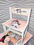 """Комплект стіл, 1 стілець дитячий """"Дівчинка і єдиноріжок"""", фото 7"""