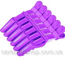 Затискач качечка крокодильчик для волосся перукарня пластмаса 11 см Toni&Guy - упаковка 6 шт БУЗОК