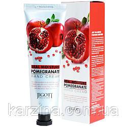 Увлажняющий крем для рук с экстрактом граната Jigott Real Moisture Pomegranate Hand Cream 100 мл