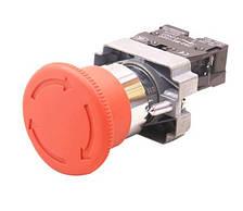 """Кнопка управління XB2-ВЅ542 натискна з фіксацією і поворотом червона """"Стоп"""", фото 2"""