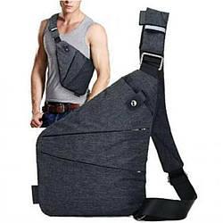 Мужская сумка-мессенджер антивор на плечо Cross Body 4634