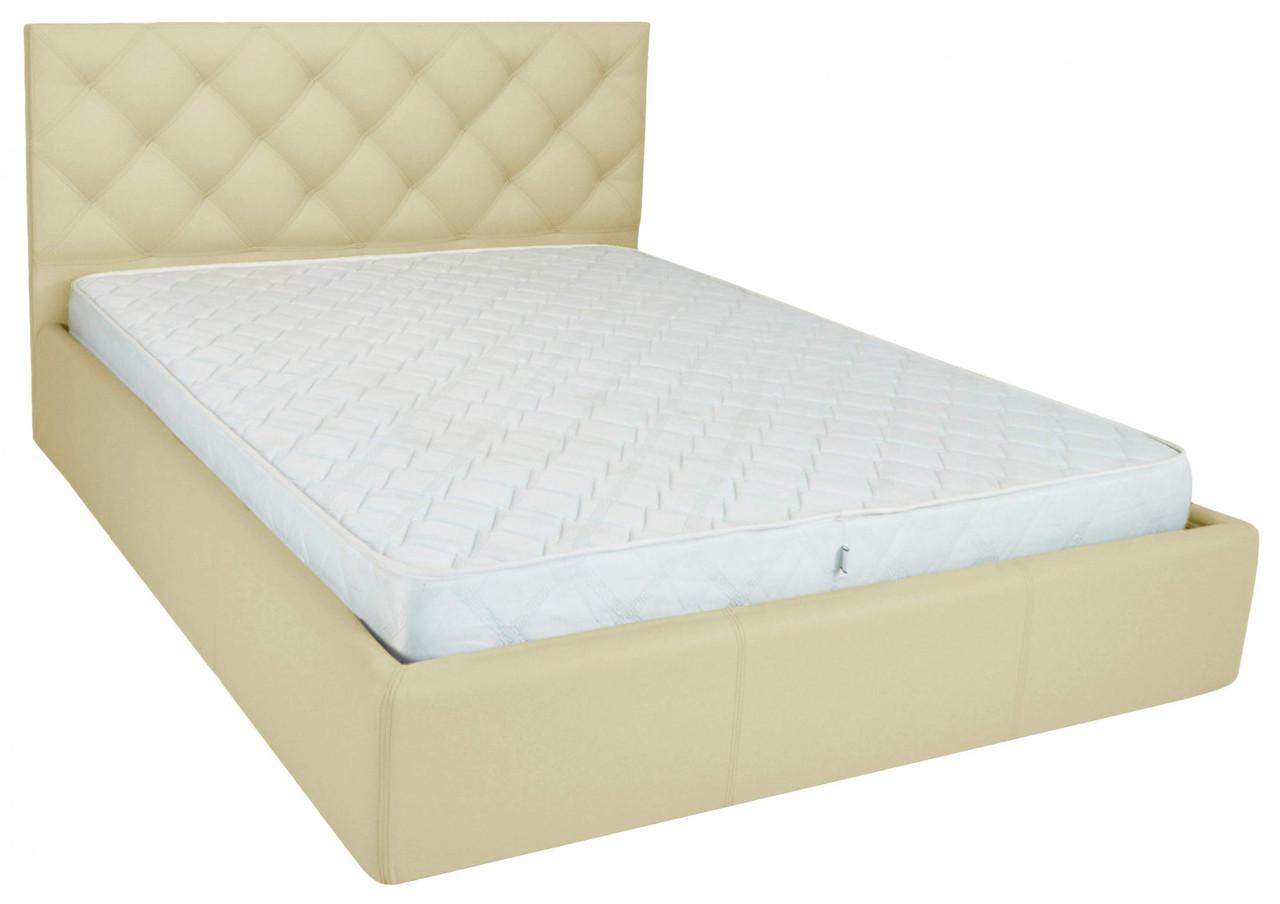 Ліжко Bristol Comfort 140 х 190 см Флай 2207 A1 З підйомним механізмом і нішею для білизни Бежева