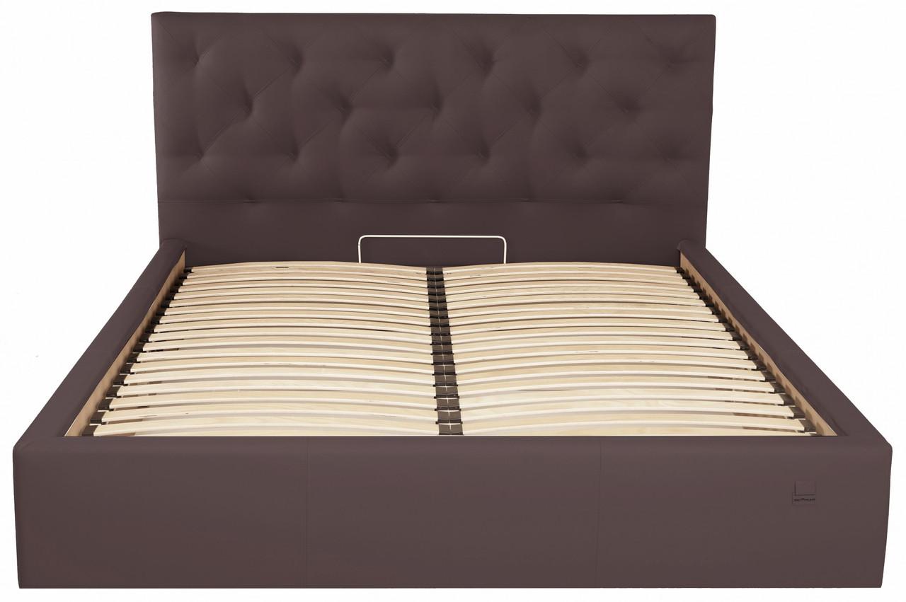 Ліжко Двоспальне Bristol Standart 180 х 200 см Флай 2231 Темно-коричнева