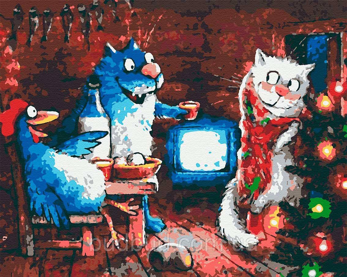 """Картини за номерами """"Сині коті"""" 40х50 1 шт."""