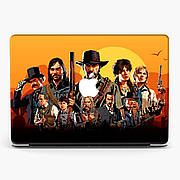 Чехол пластиковый для Apple MacBook Pro / Air игра Red Dead Redemption 2 макбук про case hard cover