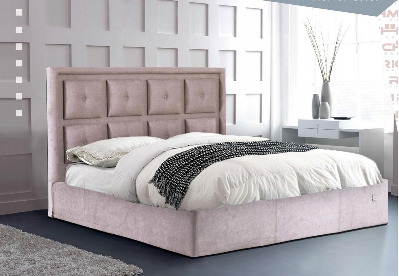 Кровать Windsor Comfort 140 х 190 см Мисти Mocco С подъемным механизмом и нишей для белья Серая