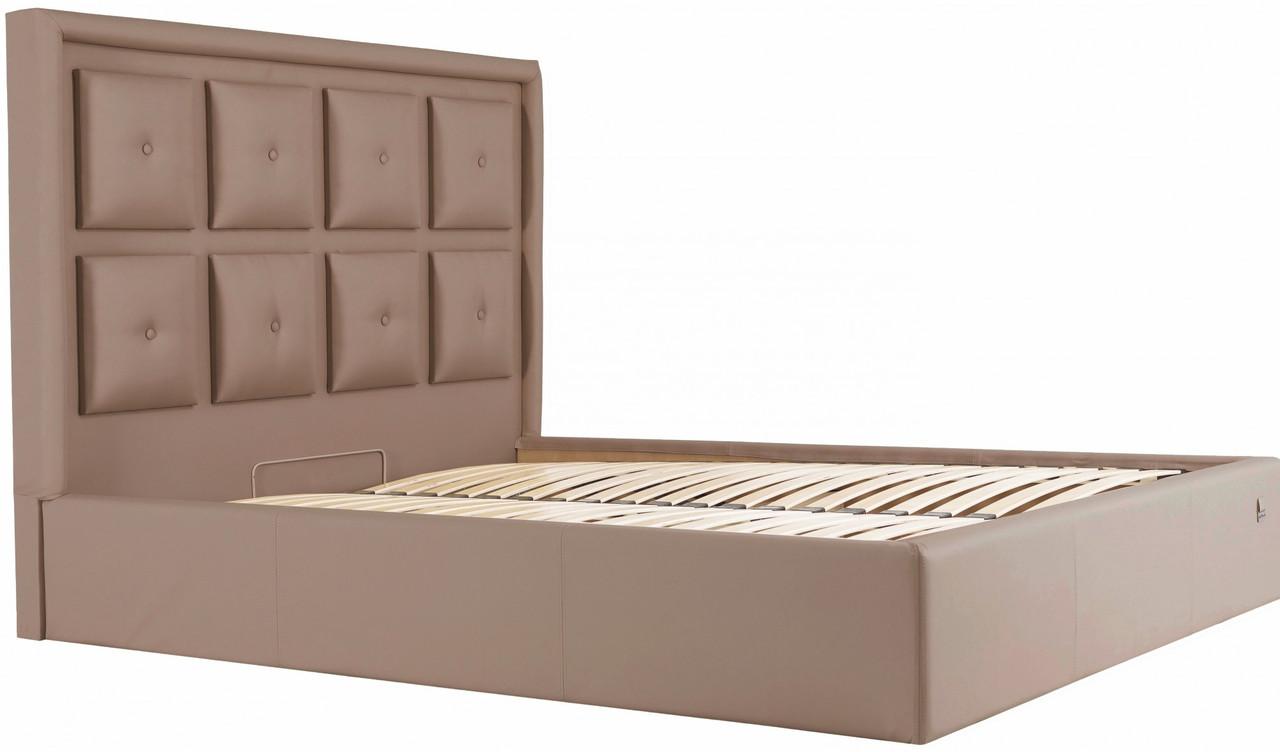 Кровать Windsor Comfort 140 х 190 см Fly 2213 С подъемным механизмом и нишей для белья Светло-коричневая