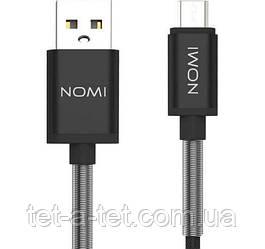 Дата кабель Nomi DCMQ 10m USB micro 1м Black