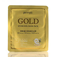 Гідрогелева маска для обличчя з золотом Петитфи / Gold Hydrogel Mask Pack / Petitfee / Корея / 32 г