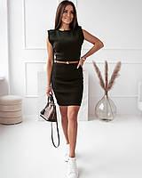 Жіноче стильне міні плаття без рукавів