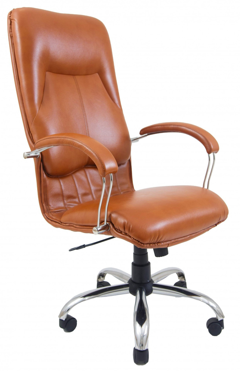 Офисное Кресло Руководителя Nicosia Fly 2212 Хром М2 AnyFix Коричневое