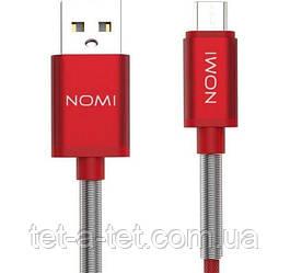 Дата кабель Nomi DCMQ 10m USB micro 1м Red