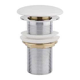 Донний клапан для раковини Qtap F008 WHI Pop-up