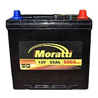 Автомобильный аккумулятор MORATTI 6ct-65a3 asia