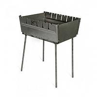 Раскладной мангал чемодан на 6 шампуров толщина 2 мм, фото 1