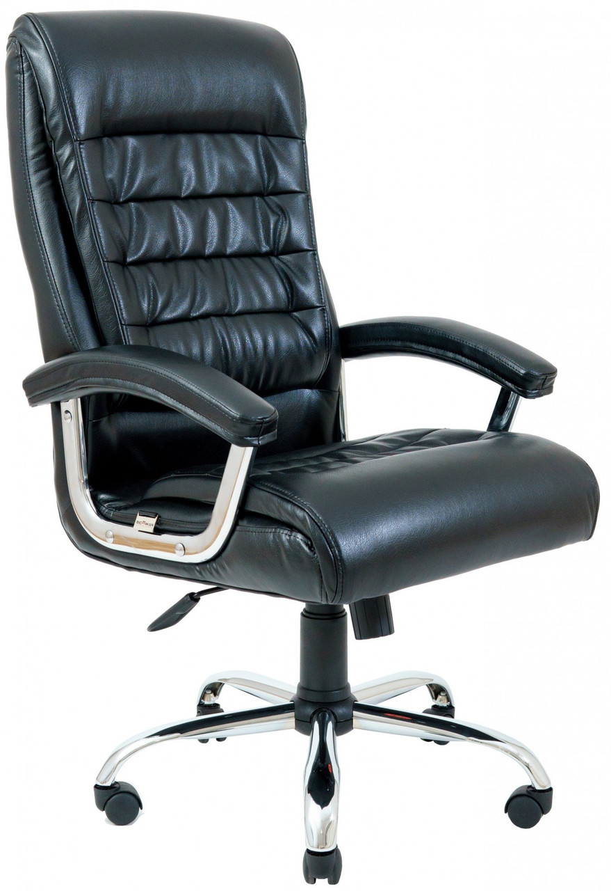 Офисное Кресло Руководителя Princeton Титан Black Хром М3 MultiBlock Черное