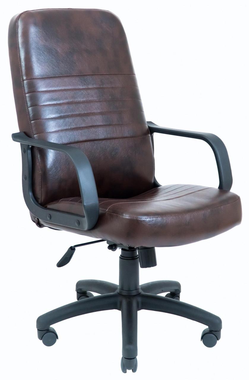 Офисное Кресло Руководителя Prius Титан Dark Brown ПлаStick М3 MultiBlock Коричневое