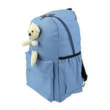 Рюкзак жіночий міський Мишка блакитний