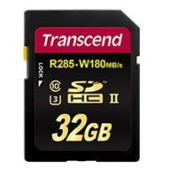 Карта памяти transcend sdhc 32 gb uhs-ii ultimate u3 (r285, w180mb/s)