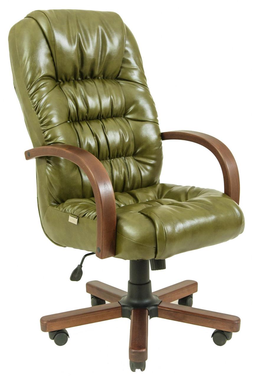 Офисное Кресло Руководителя Richard Мадрас Olive Wood М2 AnyFix Оливковое