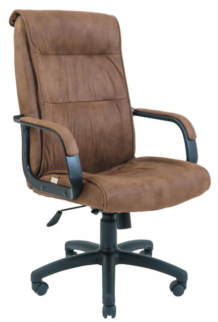 Офисное Кресло Руководителя Rio Мустанг Coffee ПлаStick Рич М1 Tilt Коричневое