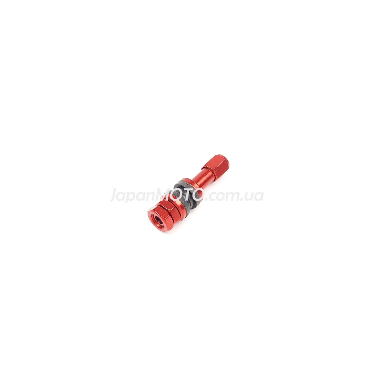 Ниппель-вентиль колеса стайлинговый прямой, красный